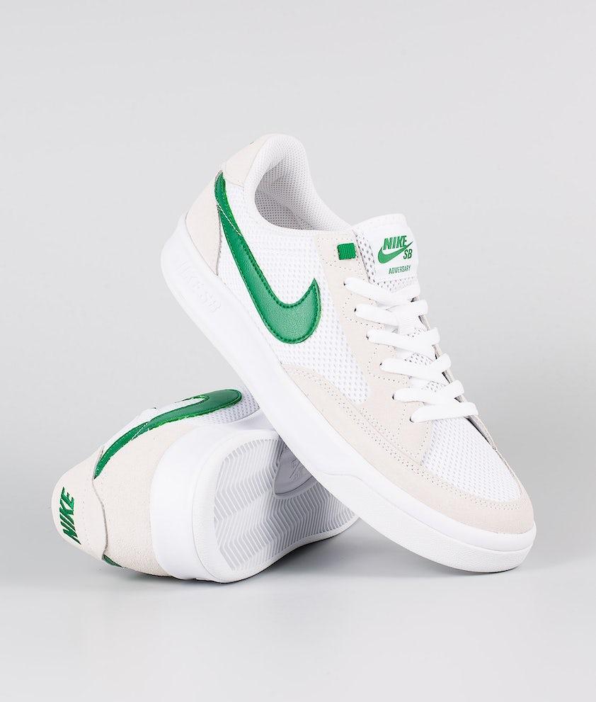Nike Nike Sb Adversary Skor White/Pine Green-White-White