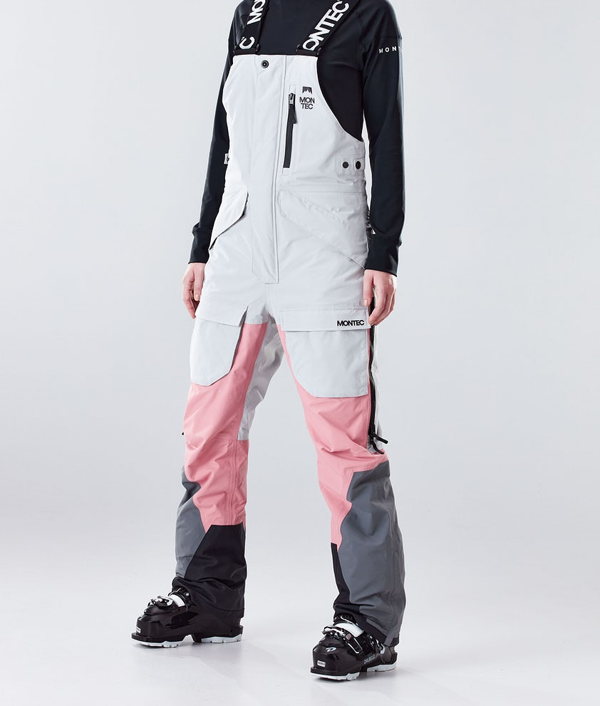 Montec Fawk W Pantalon de Ski Light Grey/Pink/Light Pearl