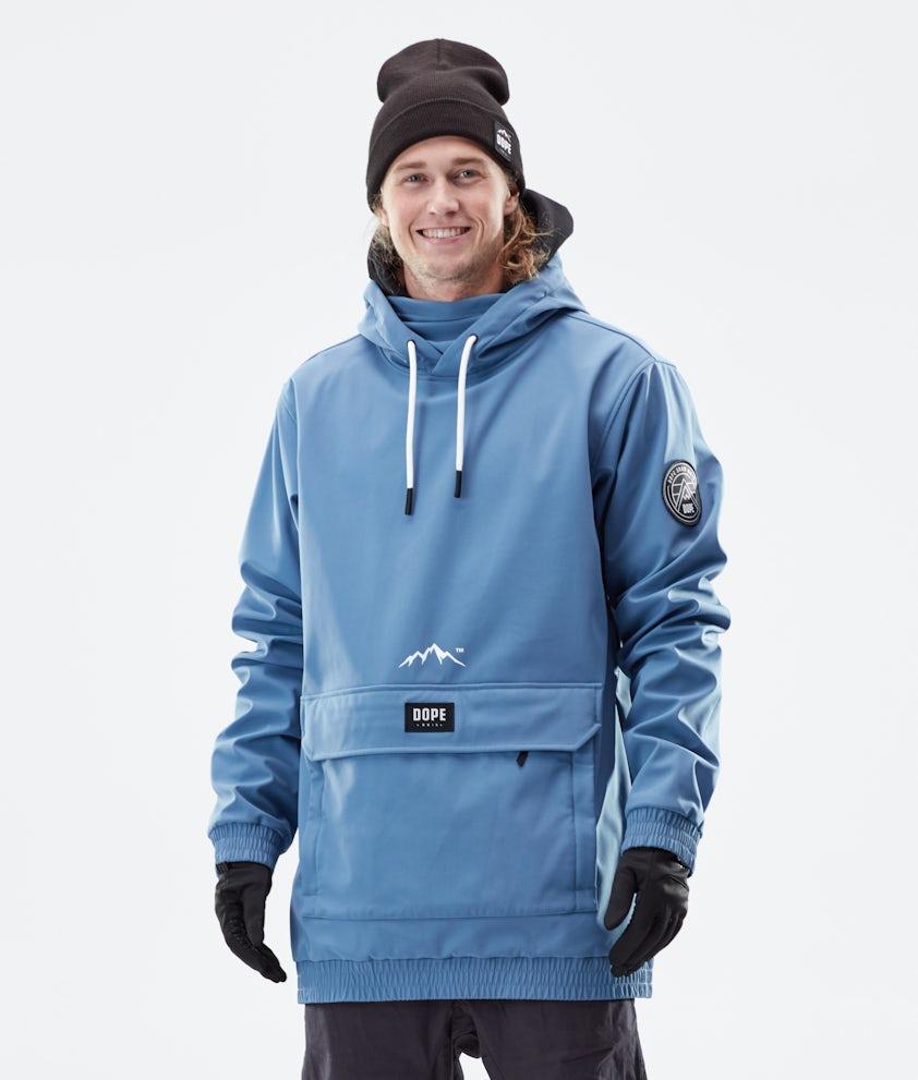 Dope Wylie Patch Vinterjakke Blue Steel