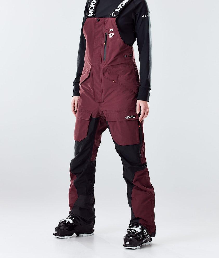 Montec Fawk W Ski Pants Burgundy/Black