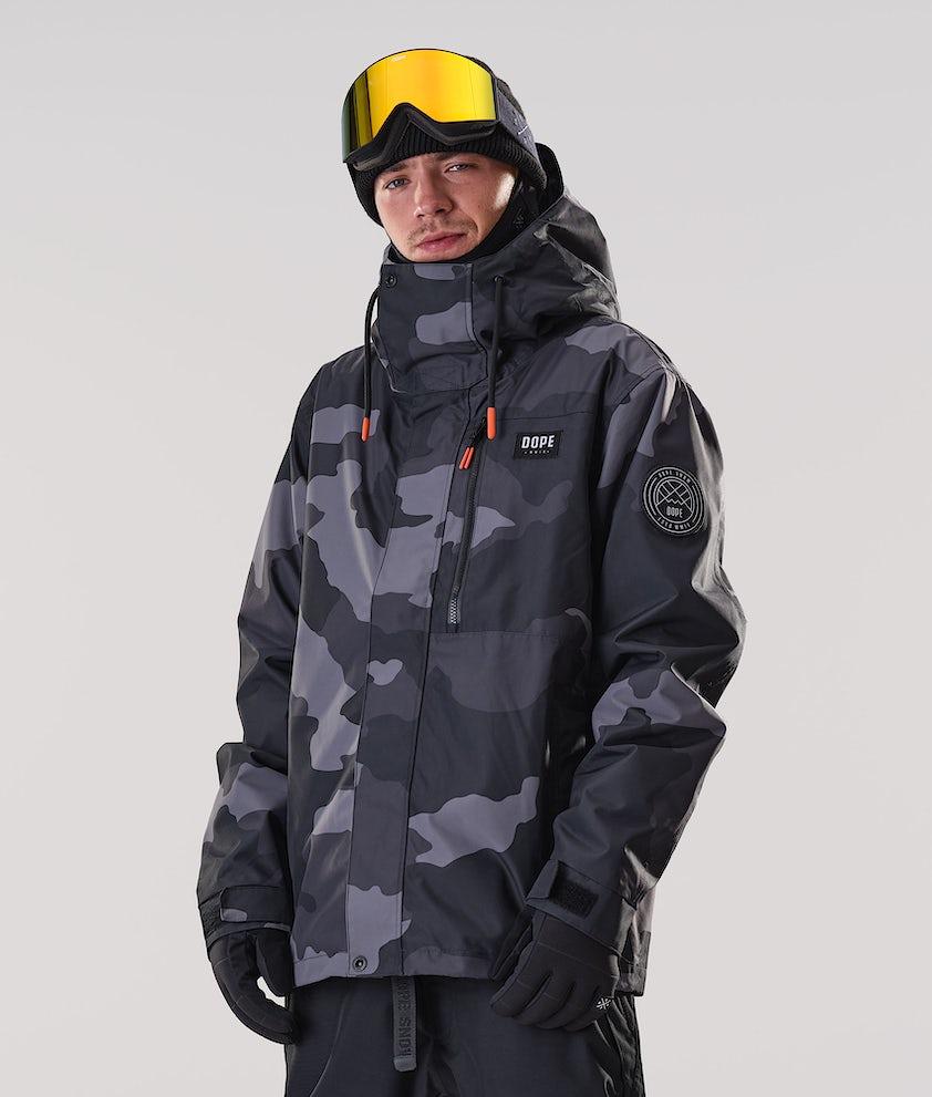 Dope Blizzard FZ Ski Jacket Black Camo