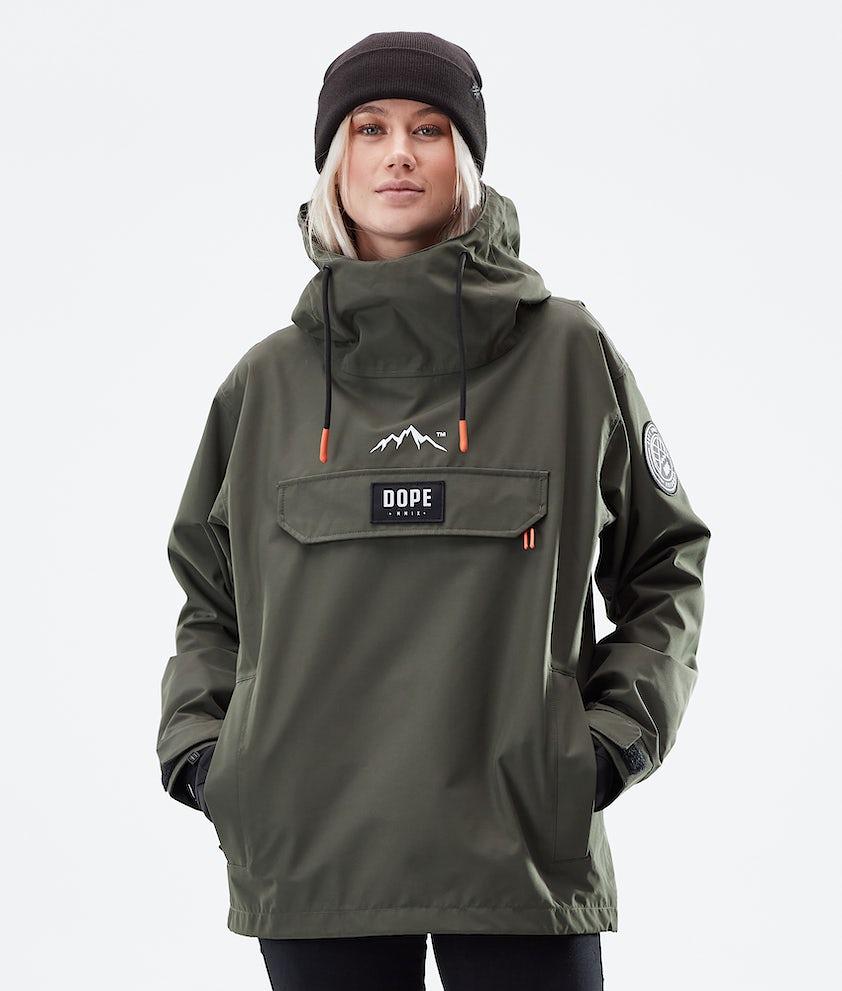 Dope Blizzard PO W Winter Jacket Olive Green
