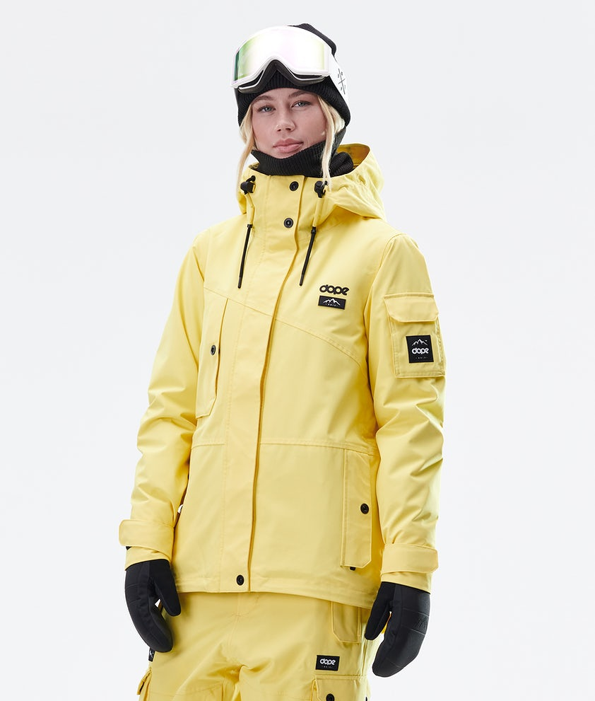 Dope Adept W Ski Jacket Faded Yellow