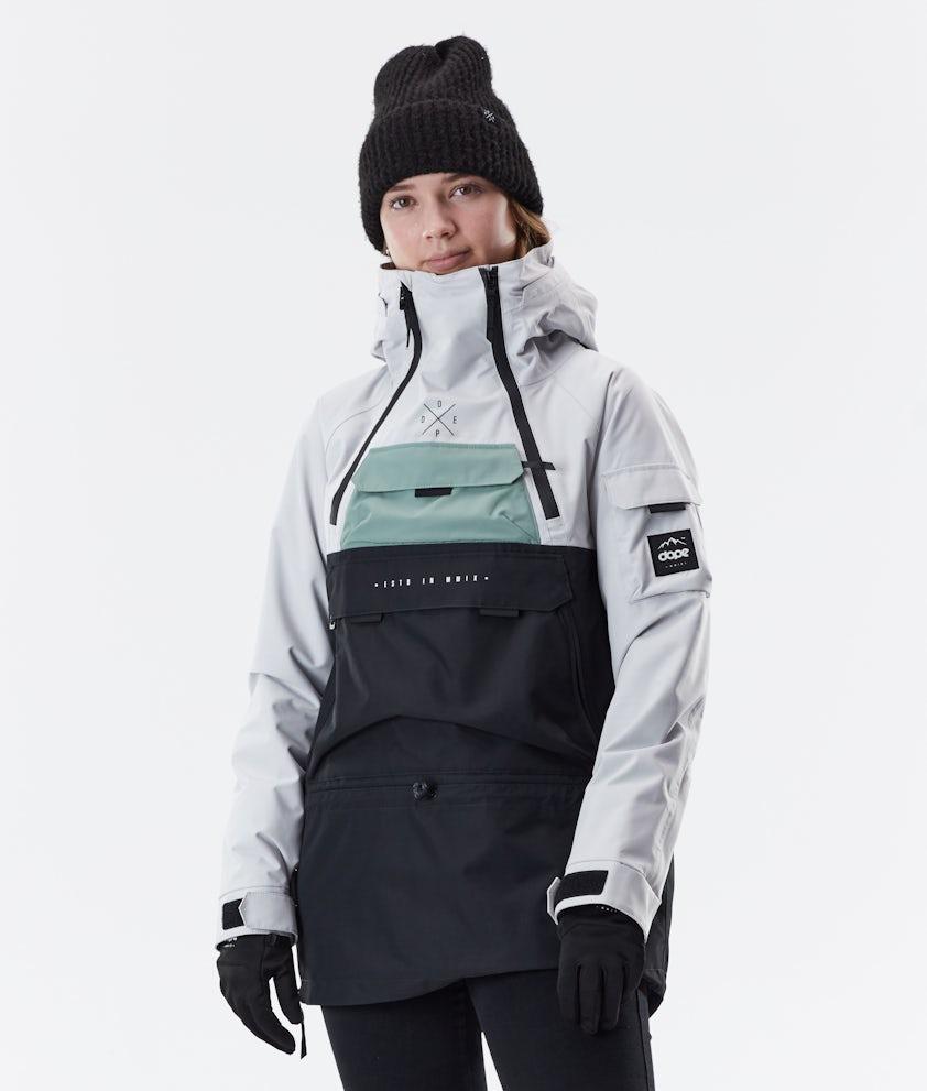 Dope Akin W Winter Jacket Light Grey/Faded Green/Black