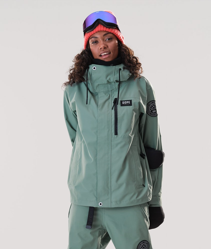 Dope Blizzard FZ W Ski Jacket Faded Green