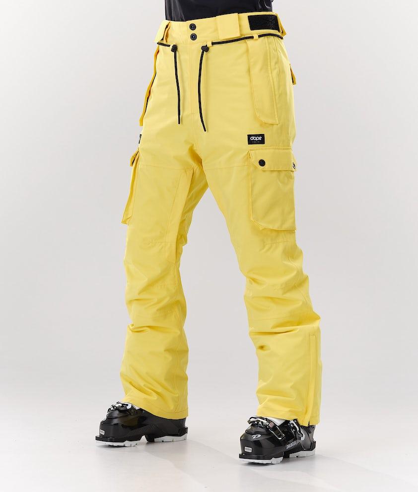 Dope Iconic W Pantalon de Ski Faded Yellow