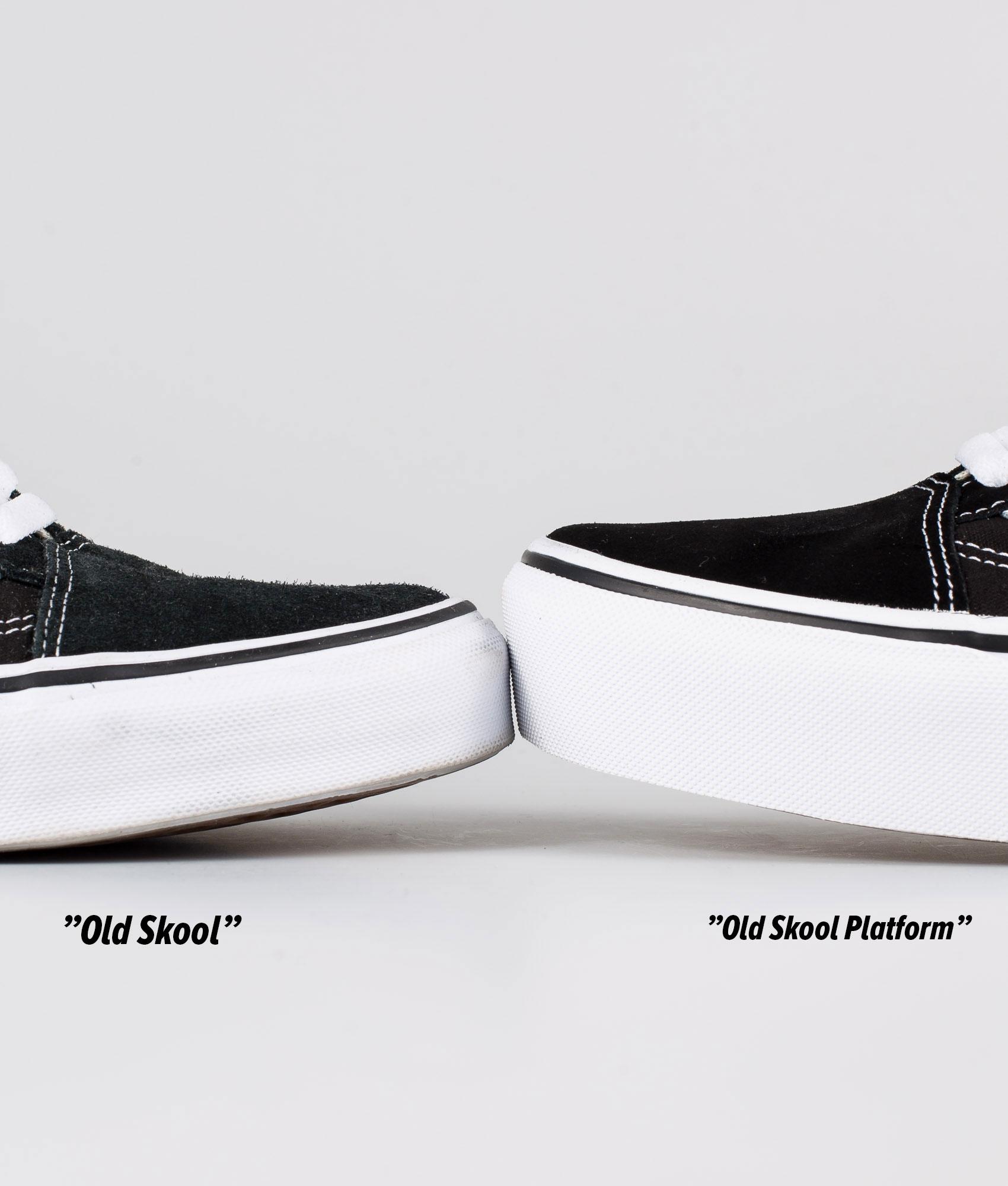 Vans Old Skool Platform Shoes Black