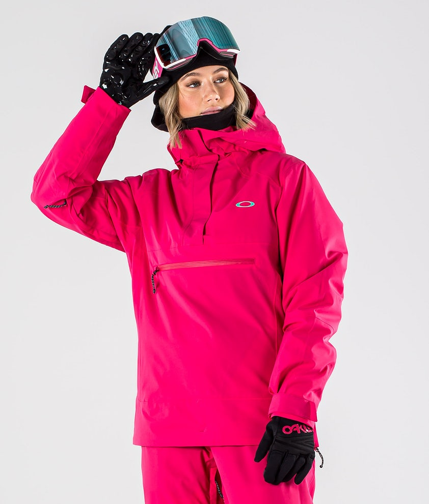 Oakley Iris Insulated Anorak Ski Jacket Rubine Red