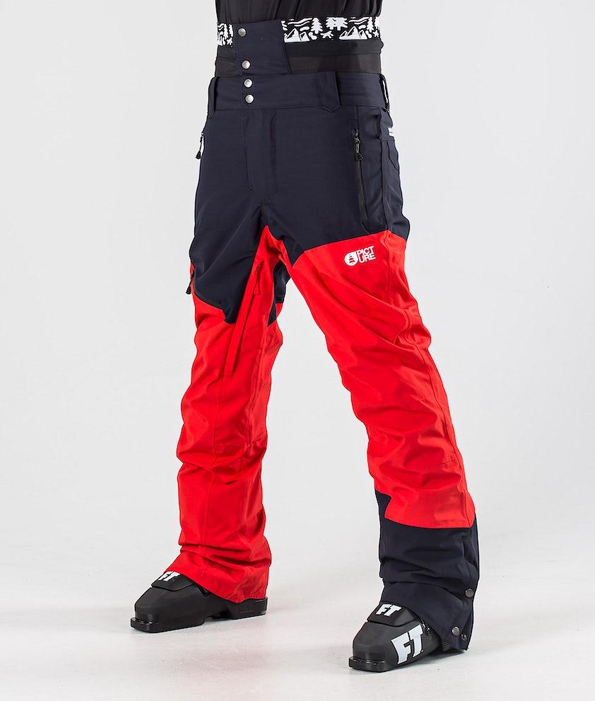 Picture Alpin Pantalon de Ski Red Dark Blue