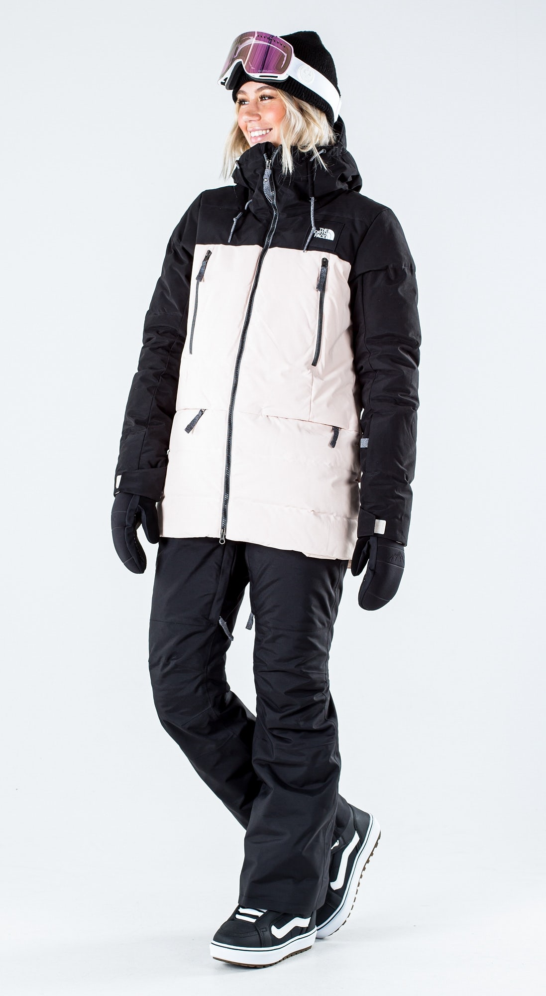 The North Face Pallie Down Tnf Black/Morning Pink