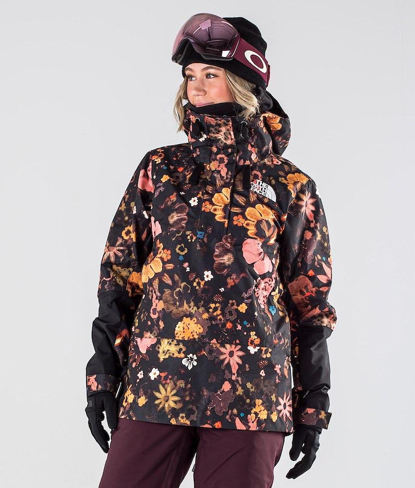 The North Face Tanager Snowboardjakke Tnf Black/Tnf Black Flower Child Multi Print