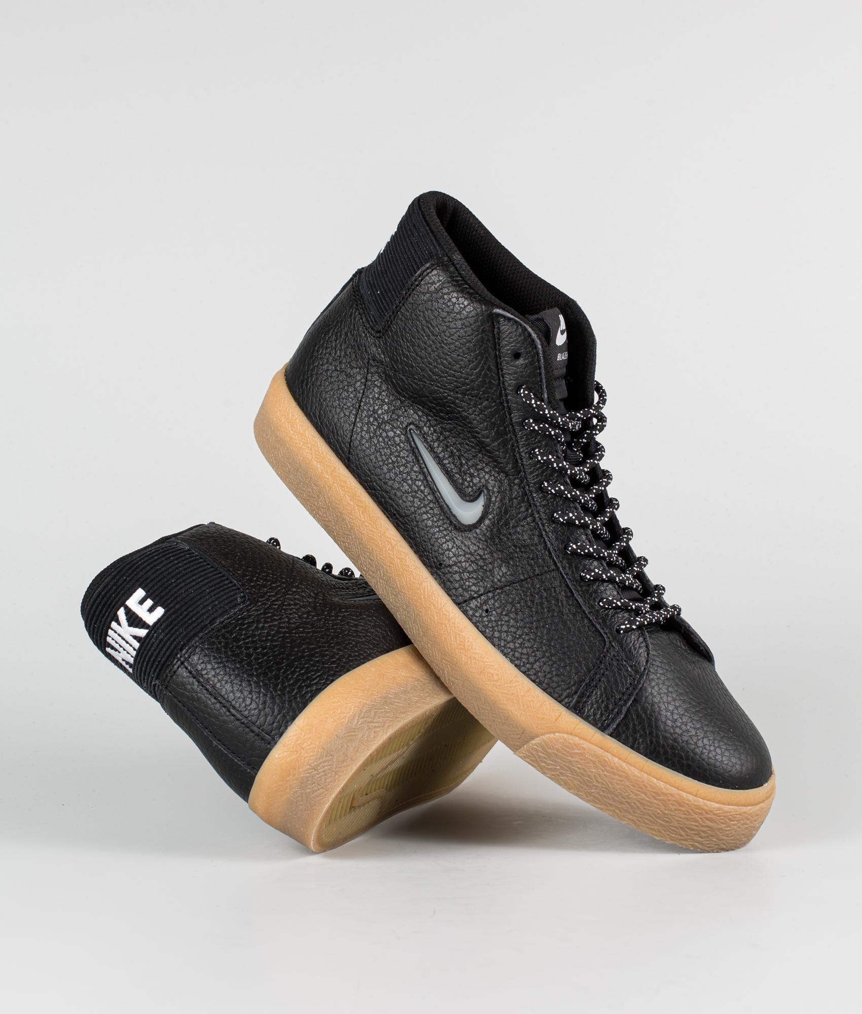 Nike Zoom Blazer Mid Premium Shoes Black/White-Black-Gum Light Brown