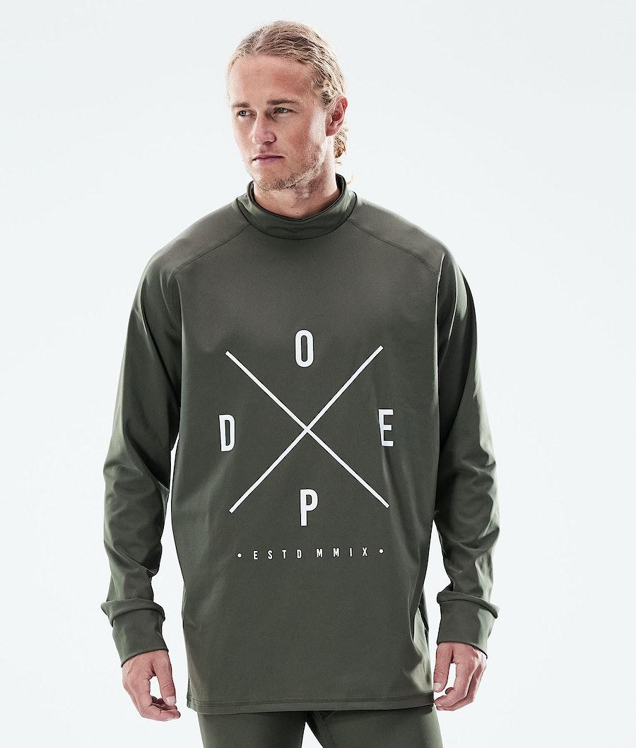 Dope Snuggle 2X-UP Underställströja Olive Green