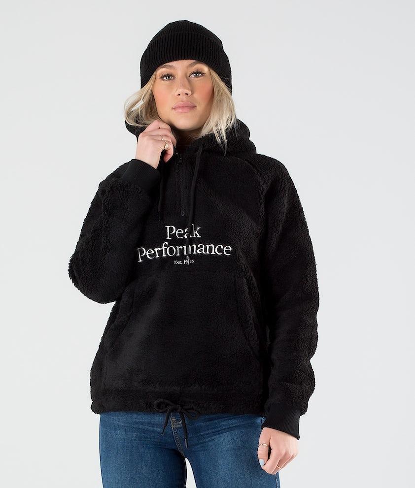 Peak Performance Original Pile Half Zip Hoodie Black