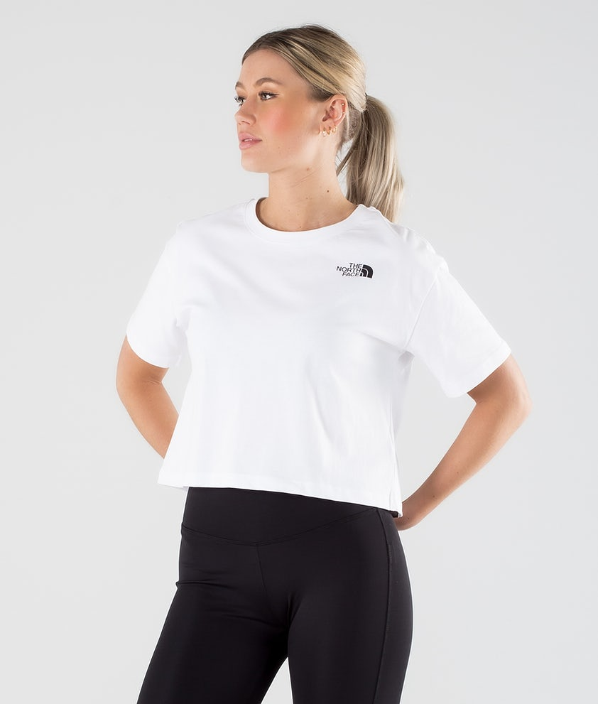 The North Face Cropped Simple Dome T-shirt Tnf White