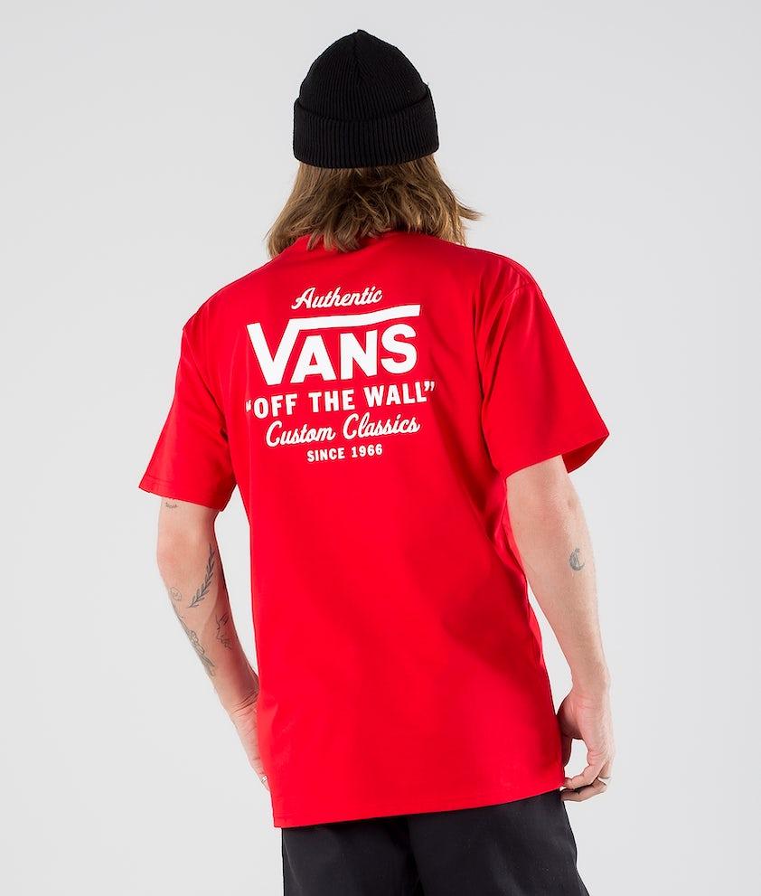 Vans Holder St Classic T-shirt High Risk Red/White
