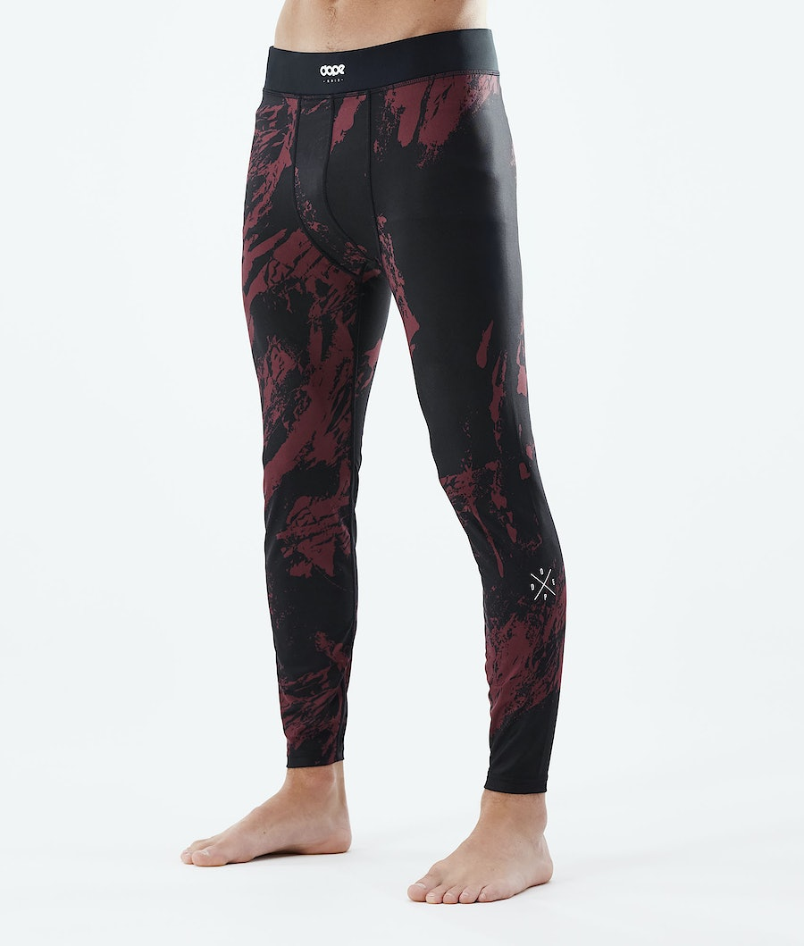 Dope Snuggle 2X-UP Base Layer Pant Paint Burgundy