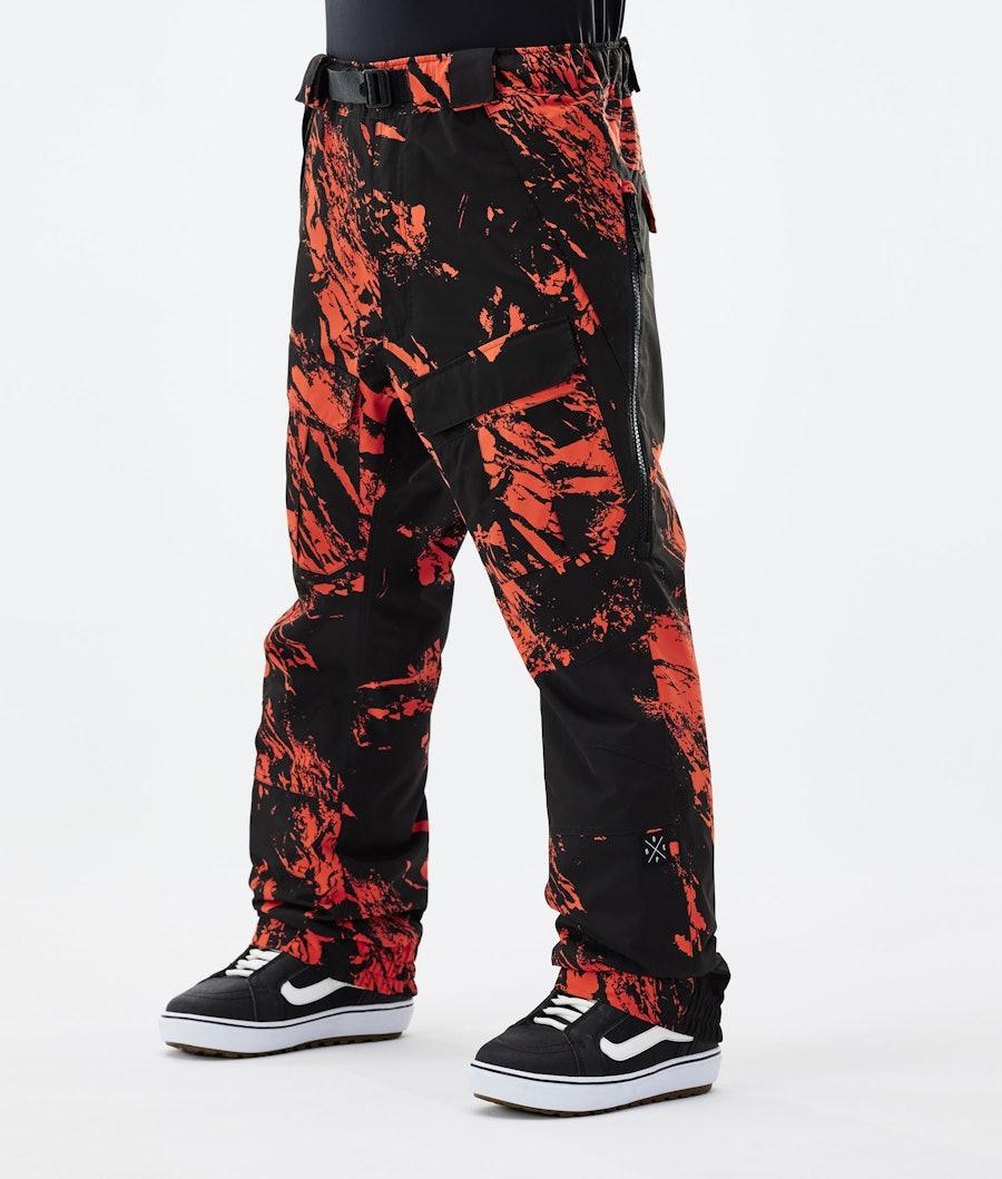 Dope Antek Snowboard Pants Paint Orange