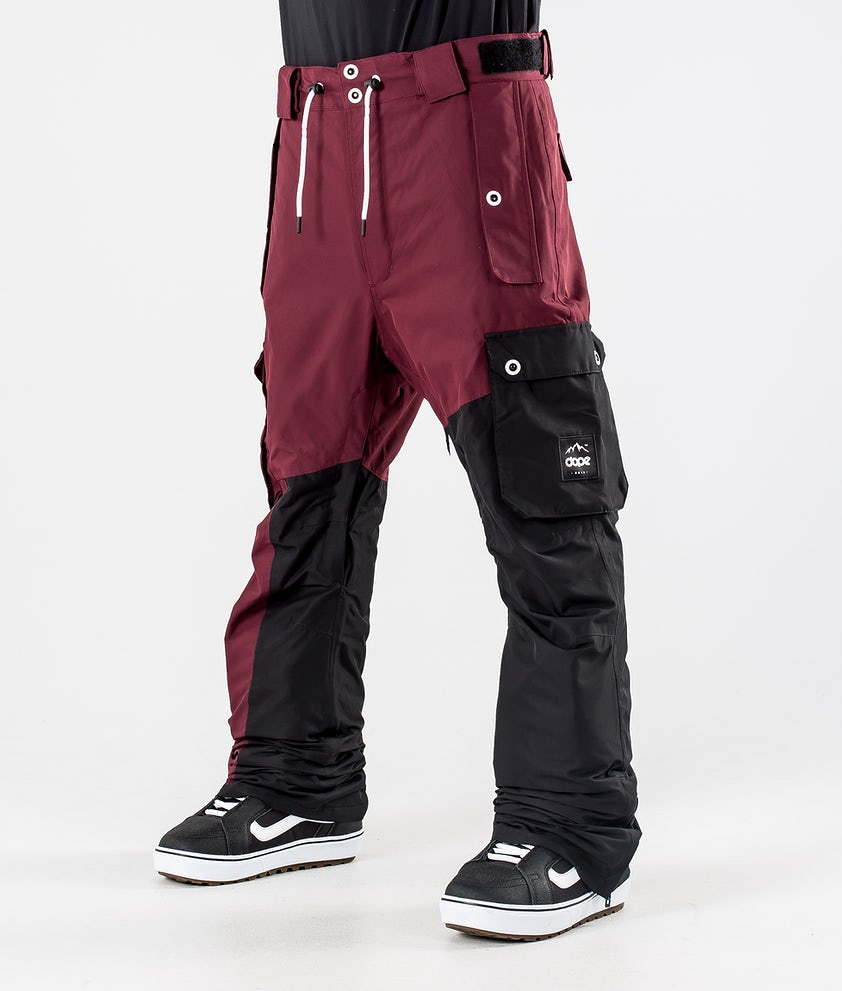 Dope Adept Snowboardbukse Burgundy/Black