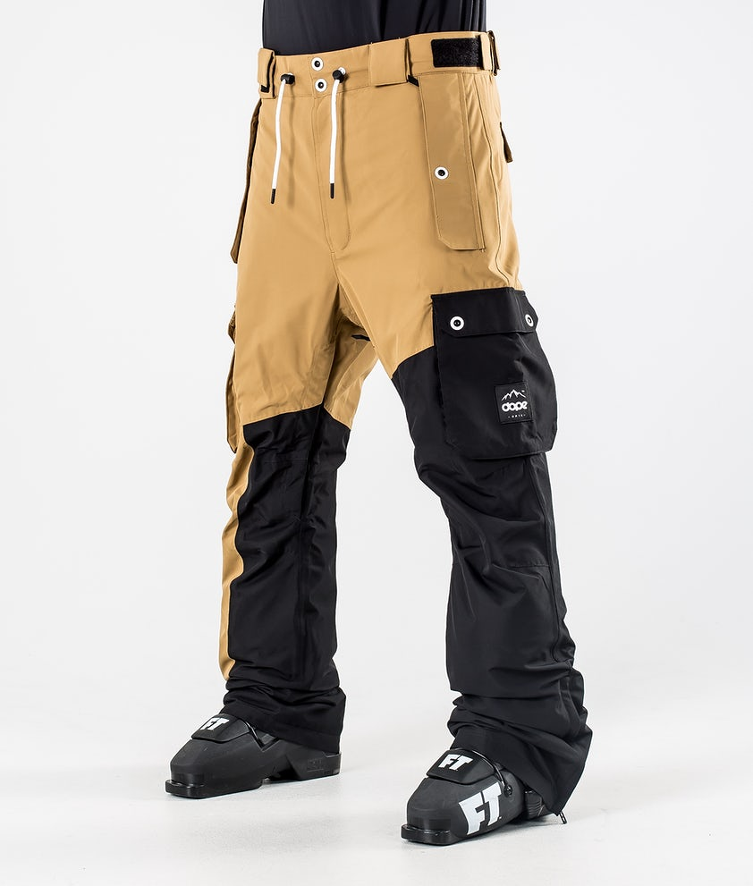 Dope Adept Ski Pants Gold/Black