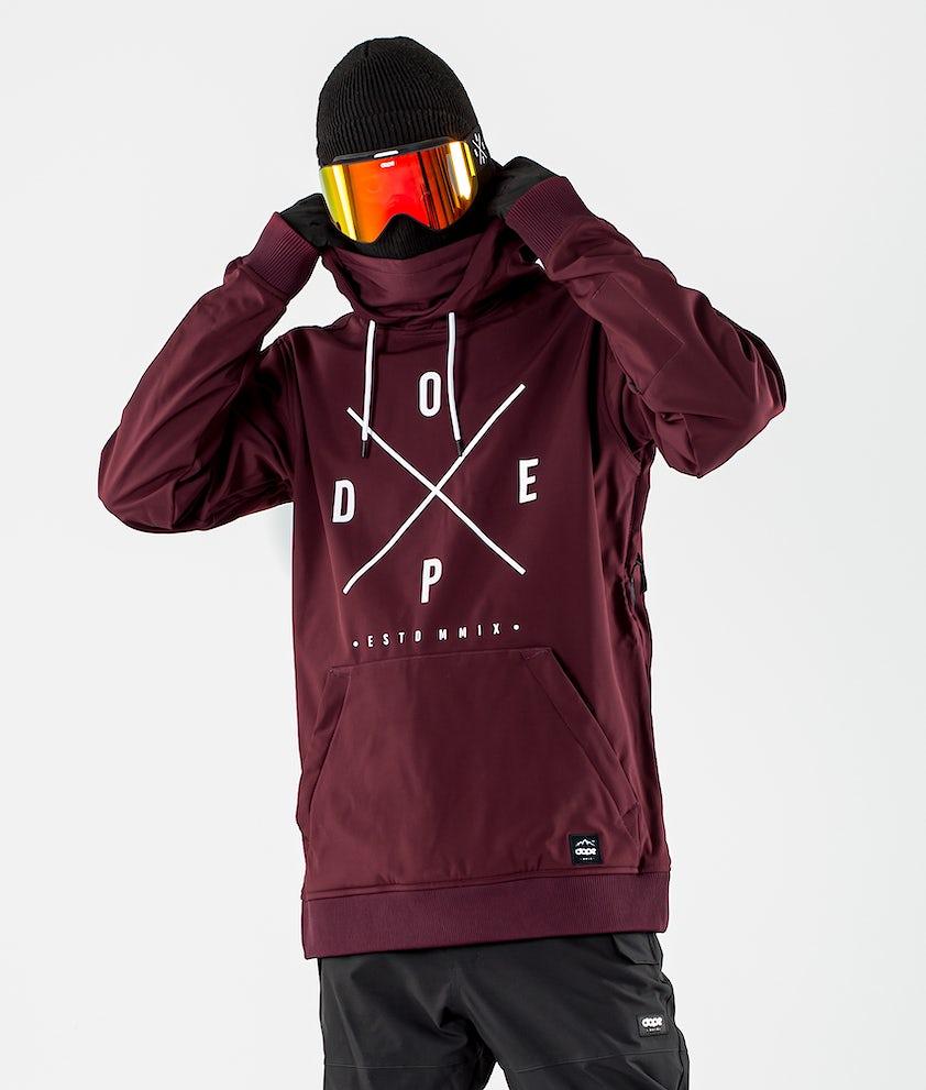Dope Yeti Giacca da Snowboard Burgundy