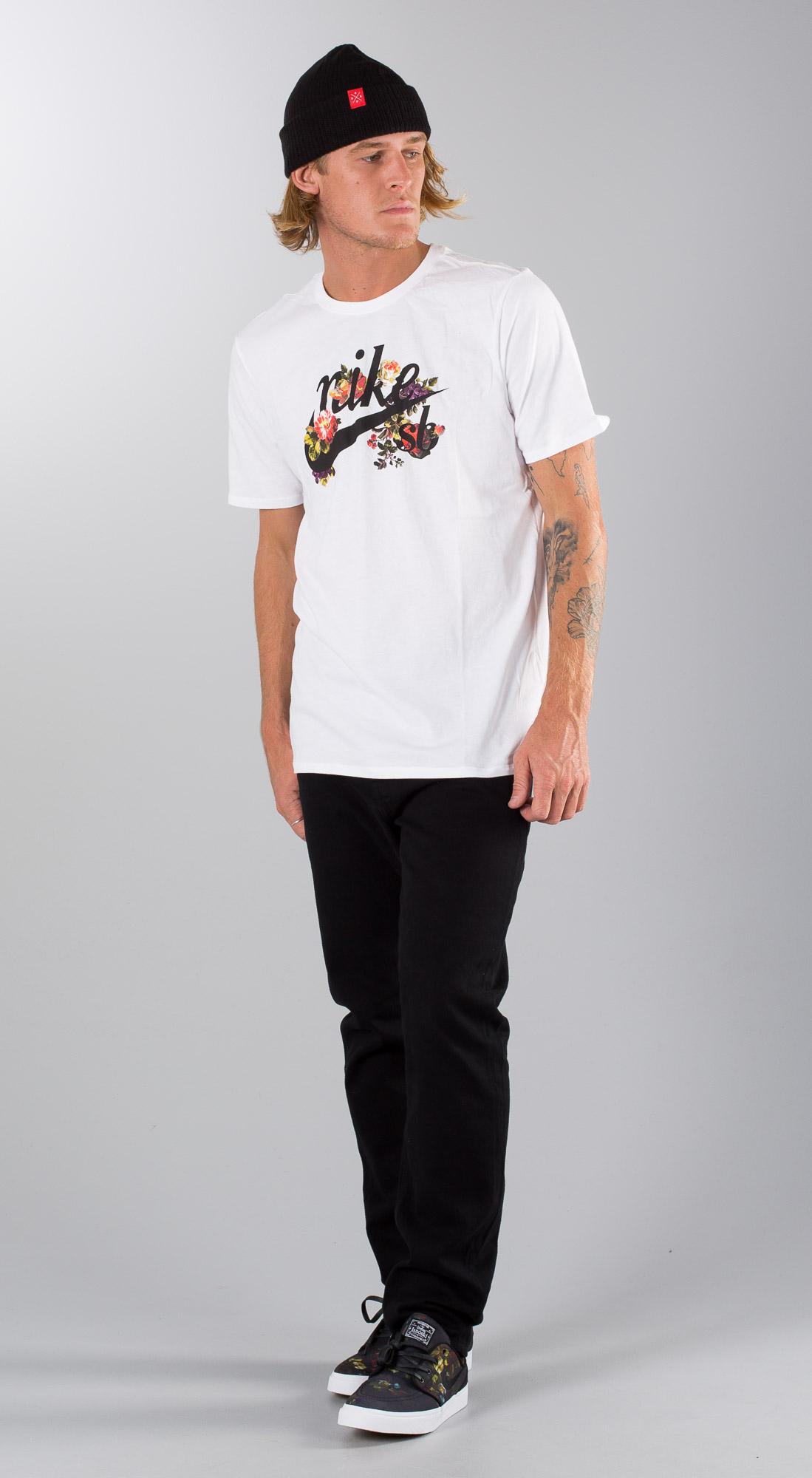 Nike Floral Logo White Black Outfit Ridestore