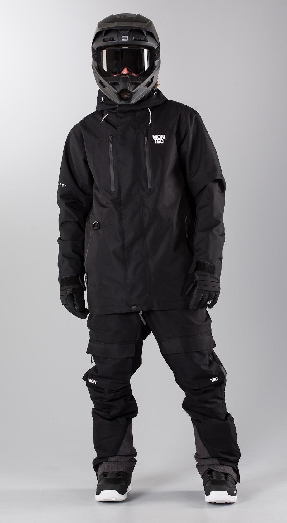 Montec Fawk Black Snowmobile clothing Multi