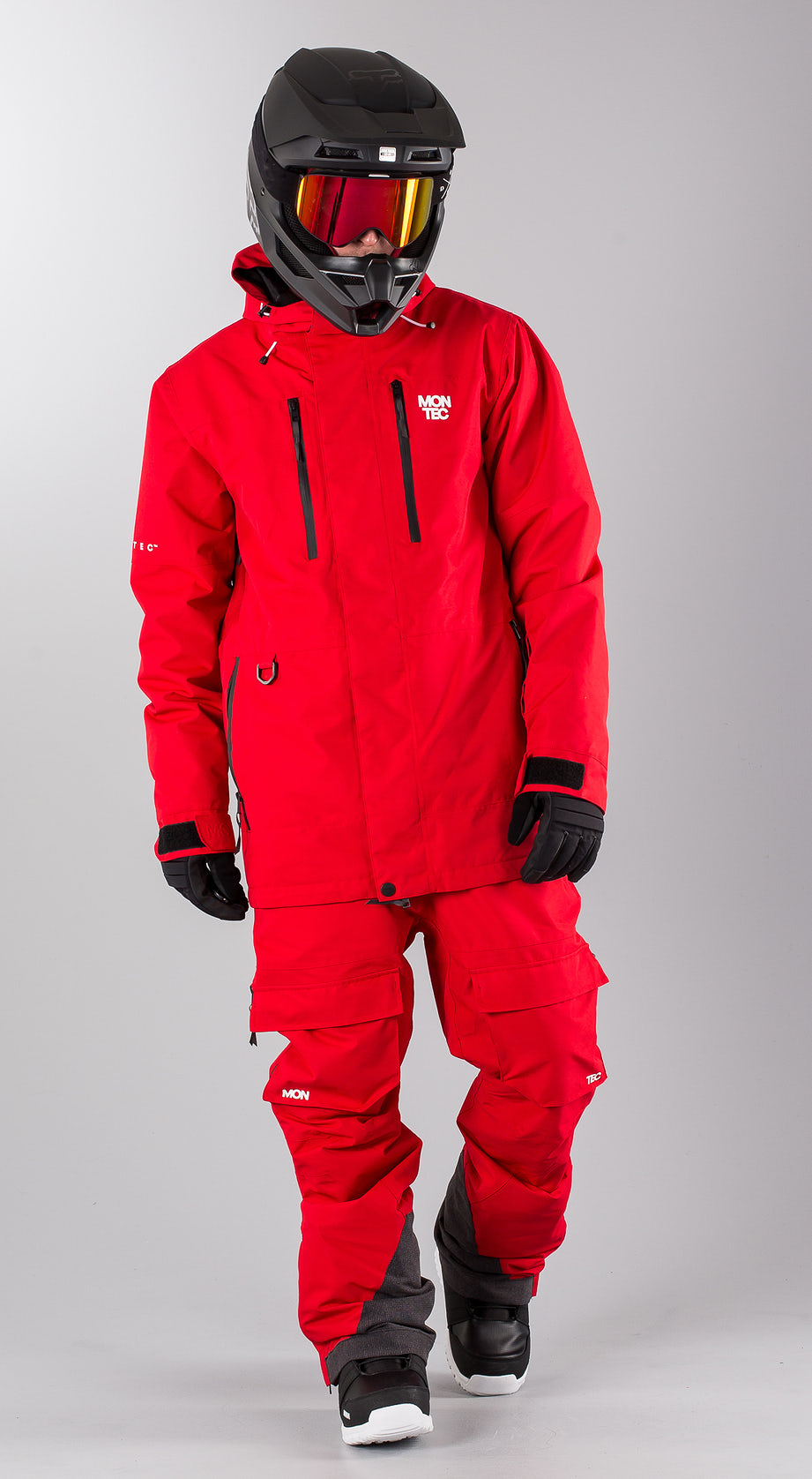 Montec Fawk Red Snowmobile clothing Multi