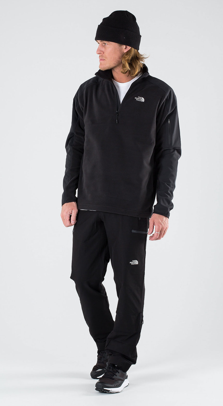 The North Face Glacier Delta 1/4 Tnf Black Outfit Multi