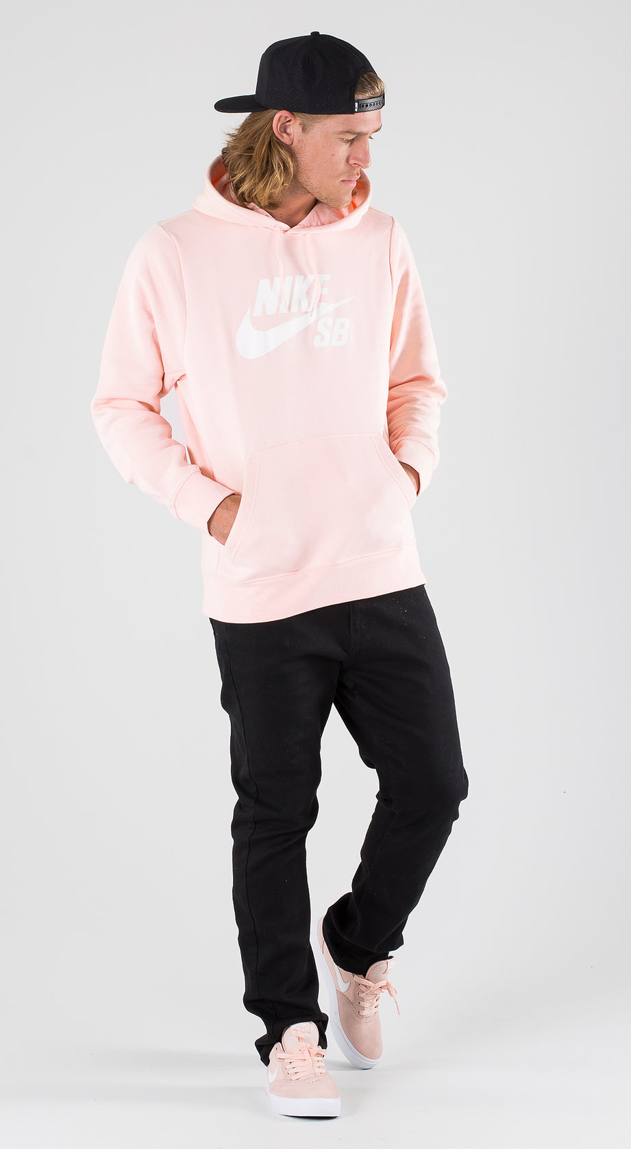 Nike SB Icon Washed Coral/White Outfit Multi