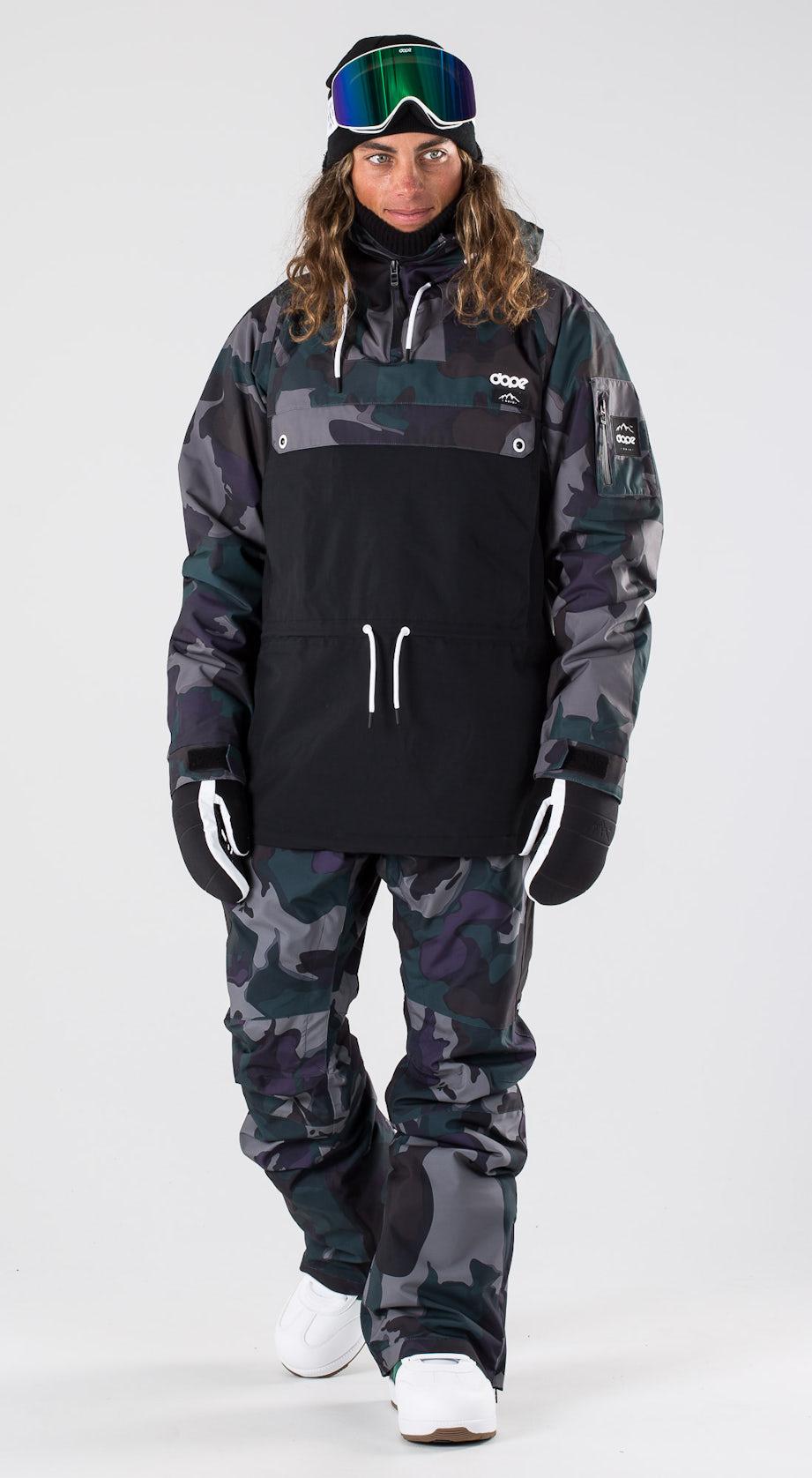 Dope Annok Grape Green Camo Snowboard clothing Multi