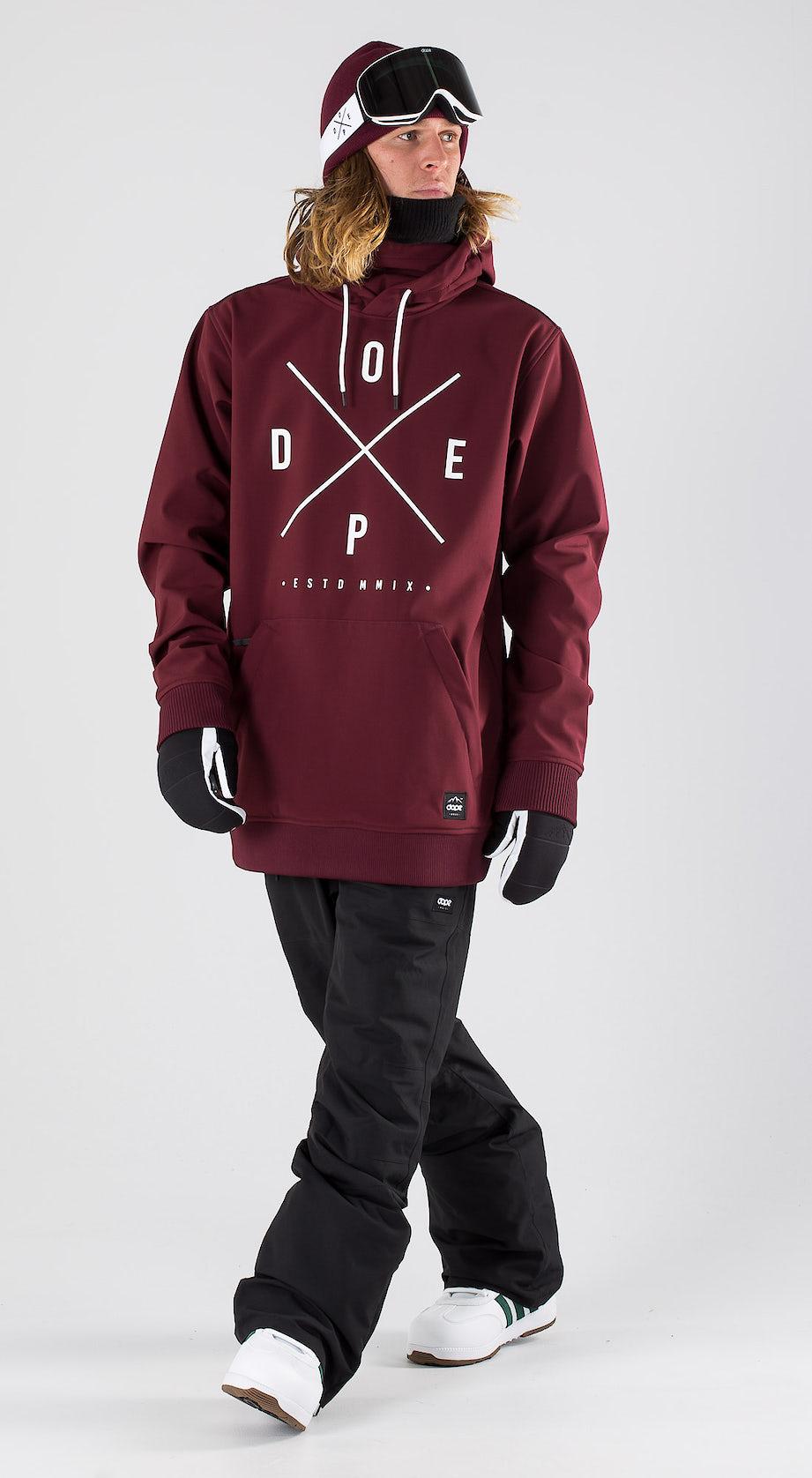 Dope Yeti Burgundy Snowboard clothing Multi