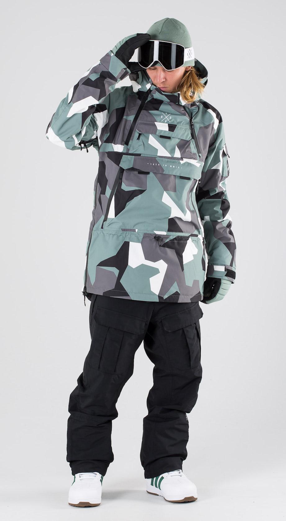Dope Akin Faded Green Camo Snowboard clothing Multi