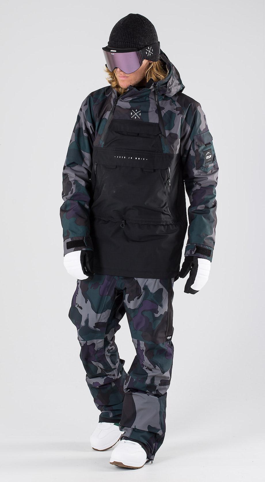 Dope Akin Grape Green Camo Snowboard clothing Multi
