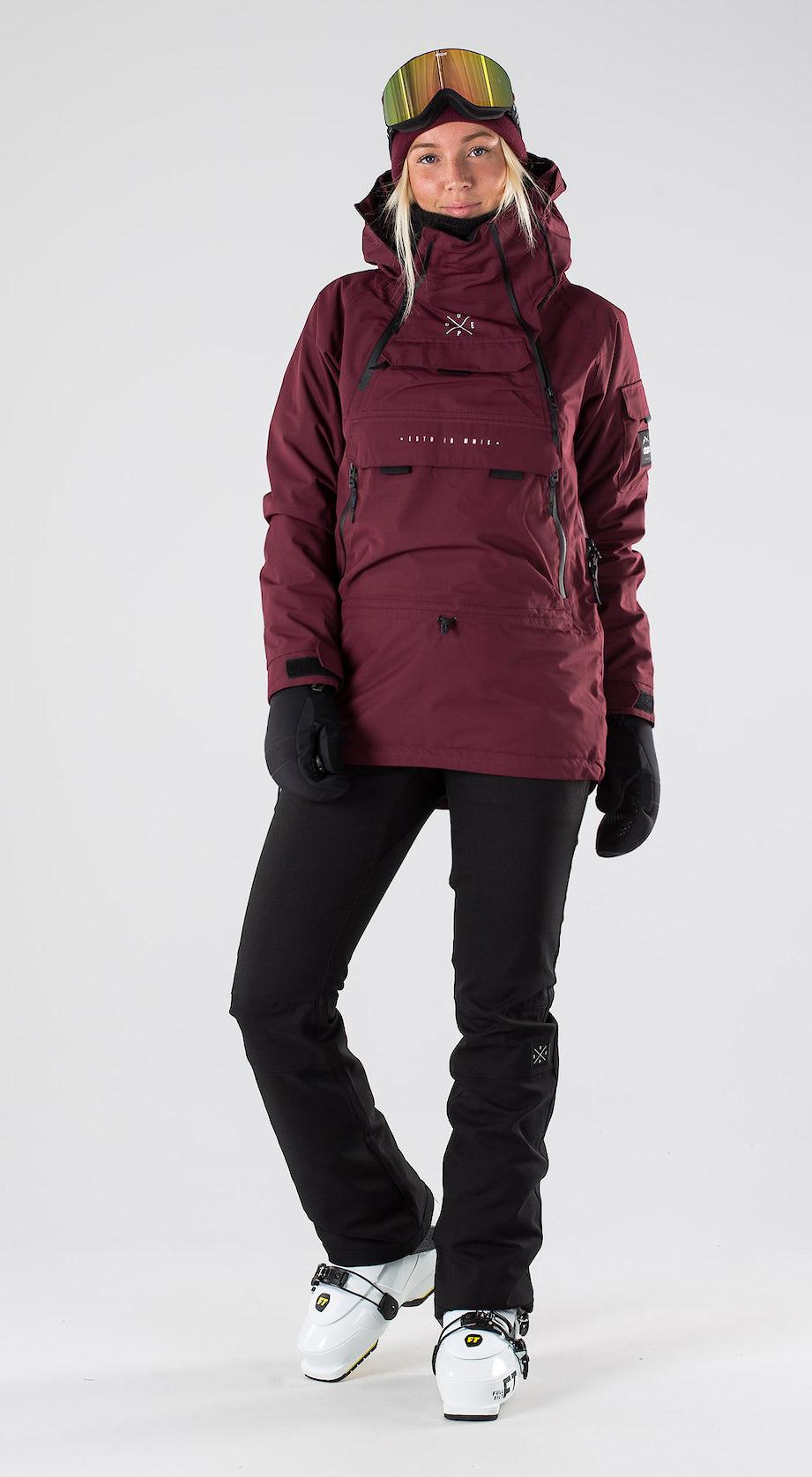 Dope Akin W Burgundy Skidkläder Multi