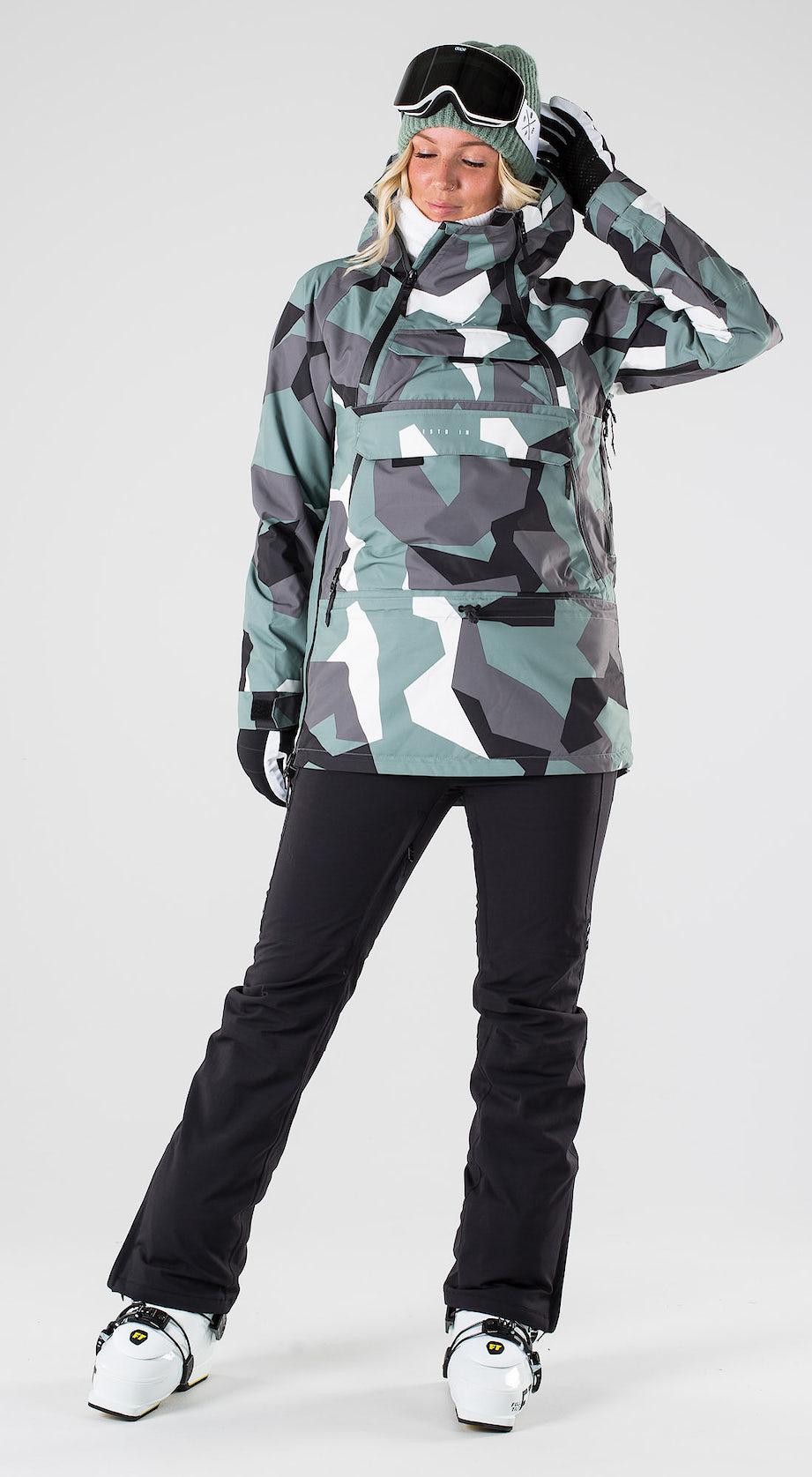 Dope Akin W Faded Green Camo Skidkläder Multi