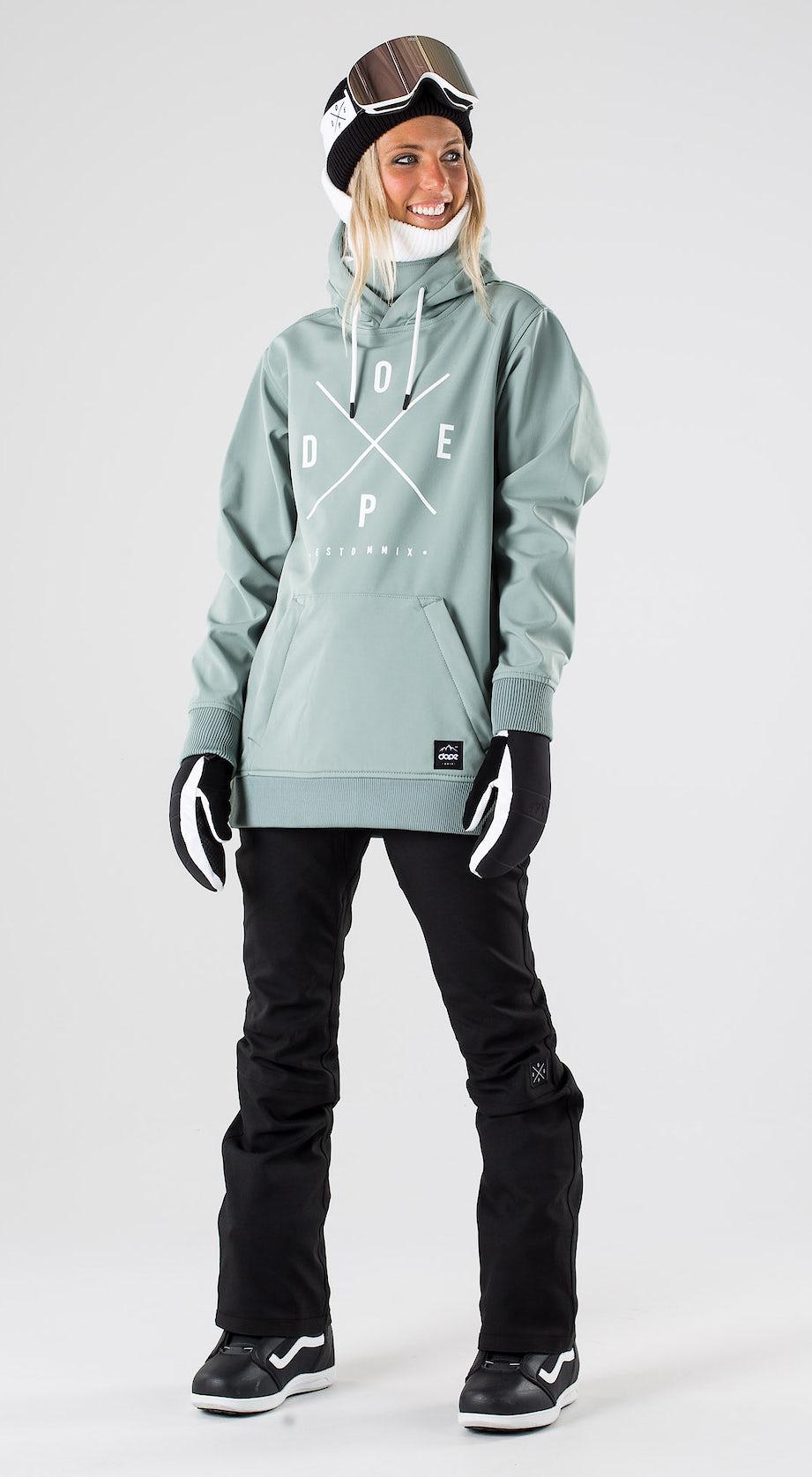 Dope Yeti W Faded Green Snowboard clothing Multi