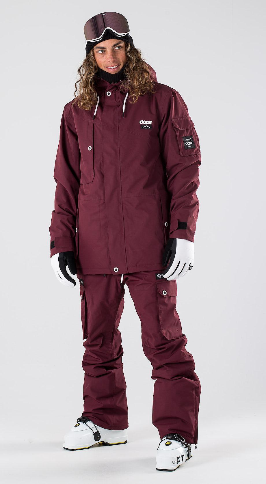 Dope Adept Burgundy Ski clothing Multi
