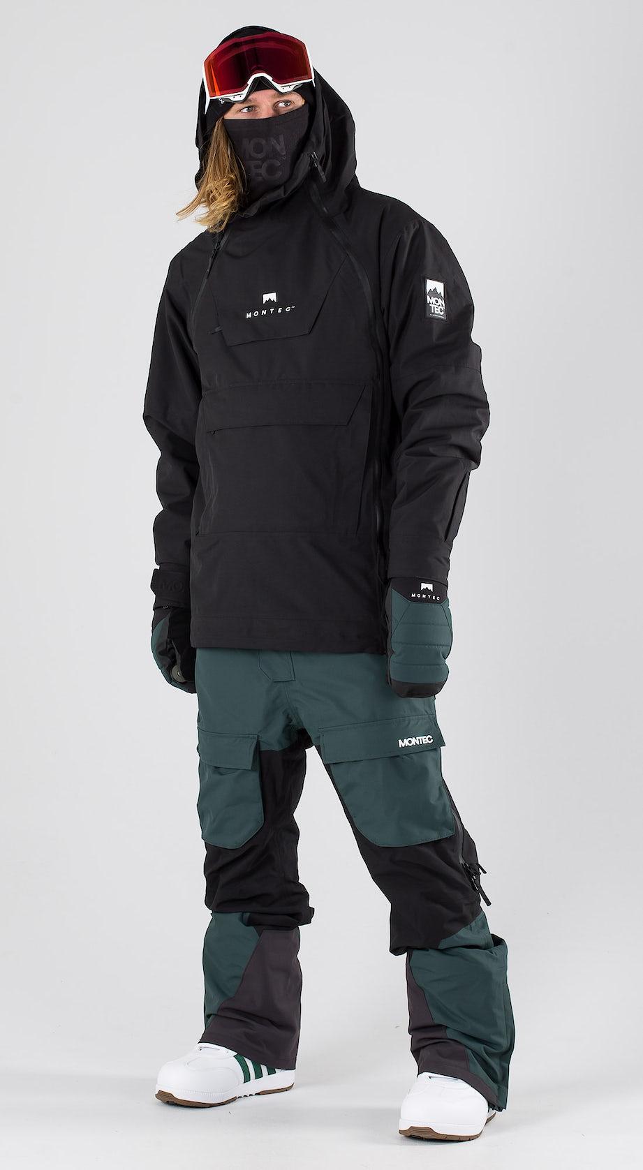 Montec Doom Black Snowboard clothing Multi