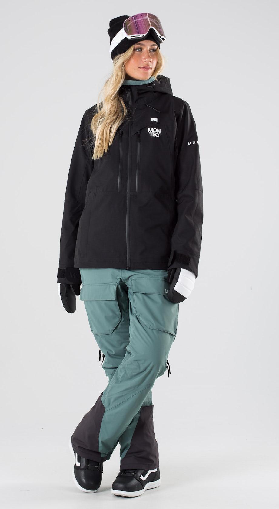 Montec Moss Black Vêtements de snowboard  Multi