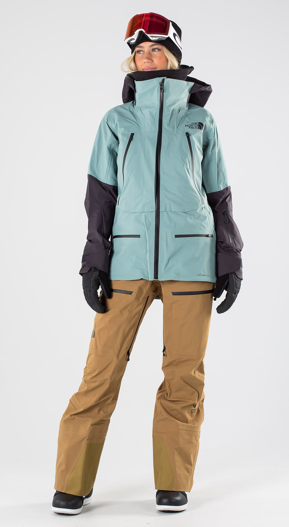 The North Face Purist Trellis Green/Weathrd Black Snowboard clothing Multi