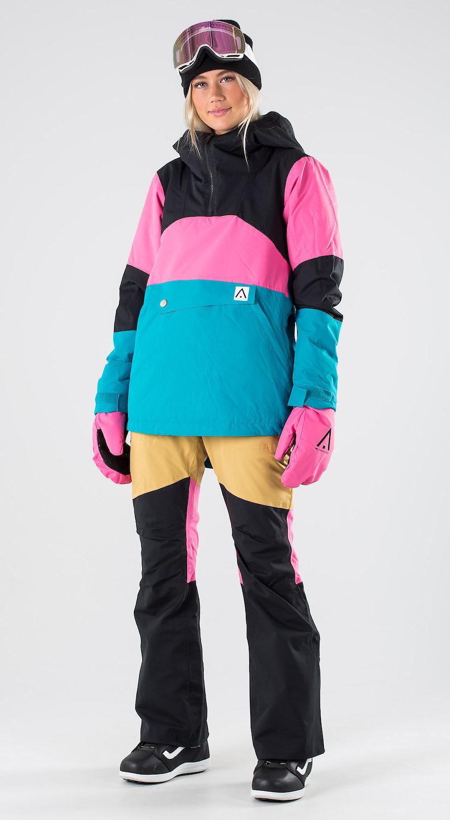 WearColour Homage Anorak Enamel Blue Snowboardkleidung Multi