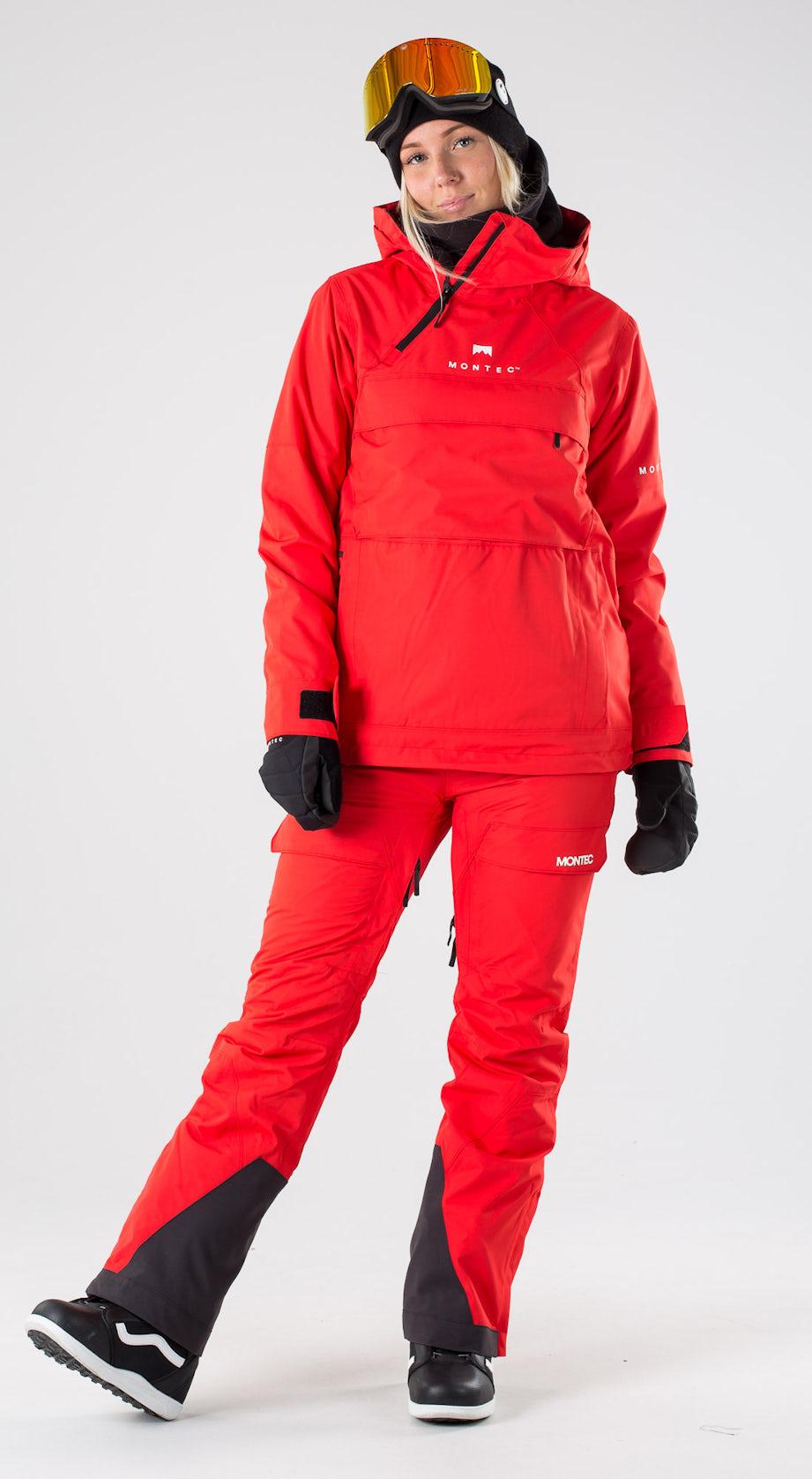Montec Dune W Red Snowboard clothing Multi