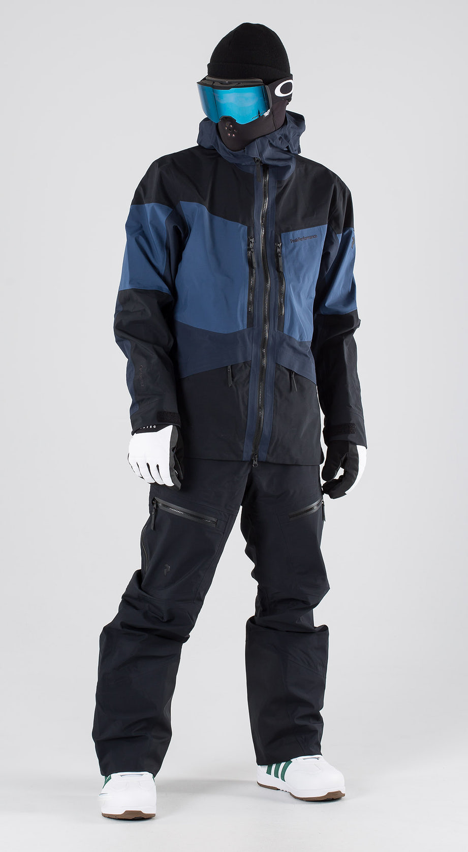 Peak Performance Gravity Decent Blue Snowboardkleidung Multi
