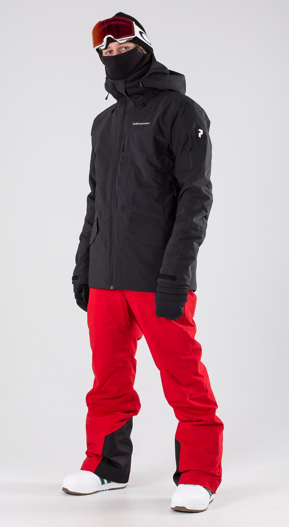 Peak Performance Maroon Long Black Snowboardkleidung Multi