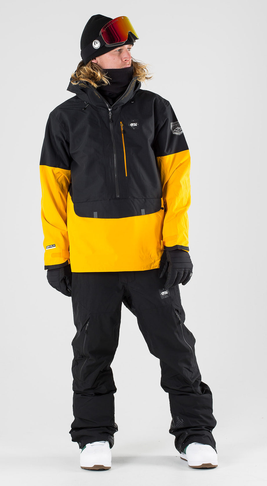 Picture Anton Black Yellow Snowboardkleidung Multi