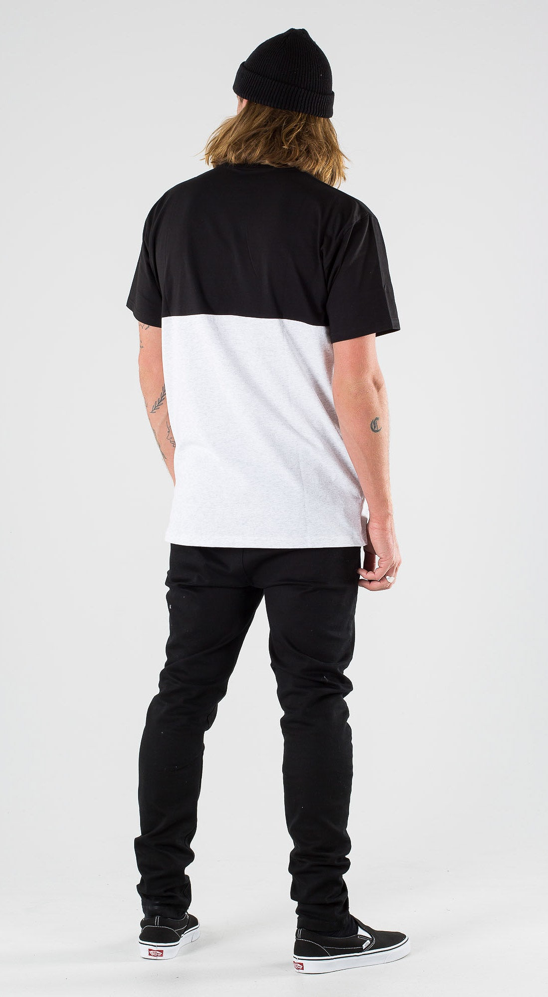 Vans Colorblock Tee Ash Heather Black