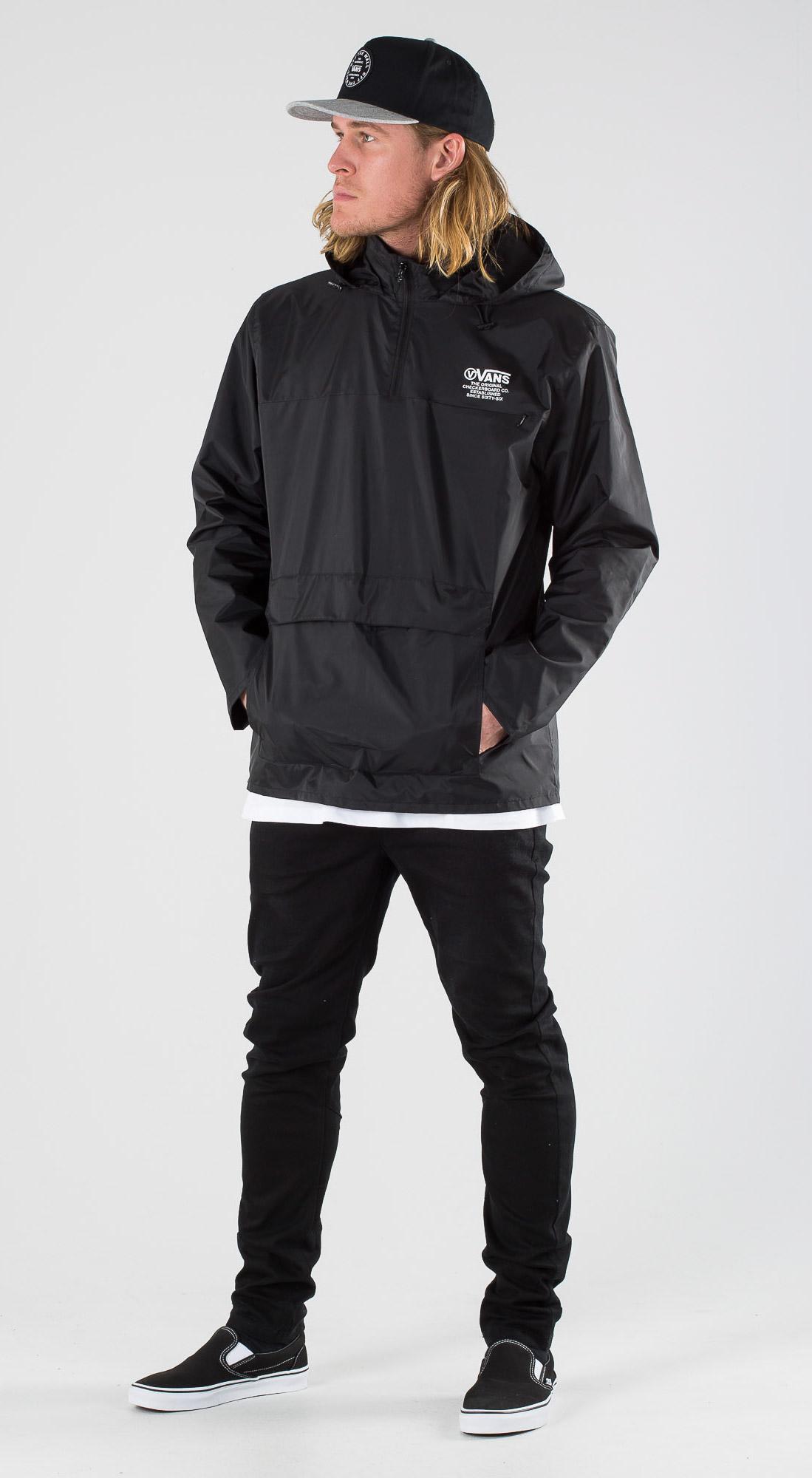 Vans Distort Type Anorak Black Outfit