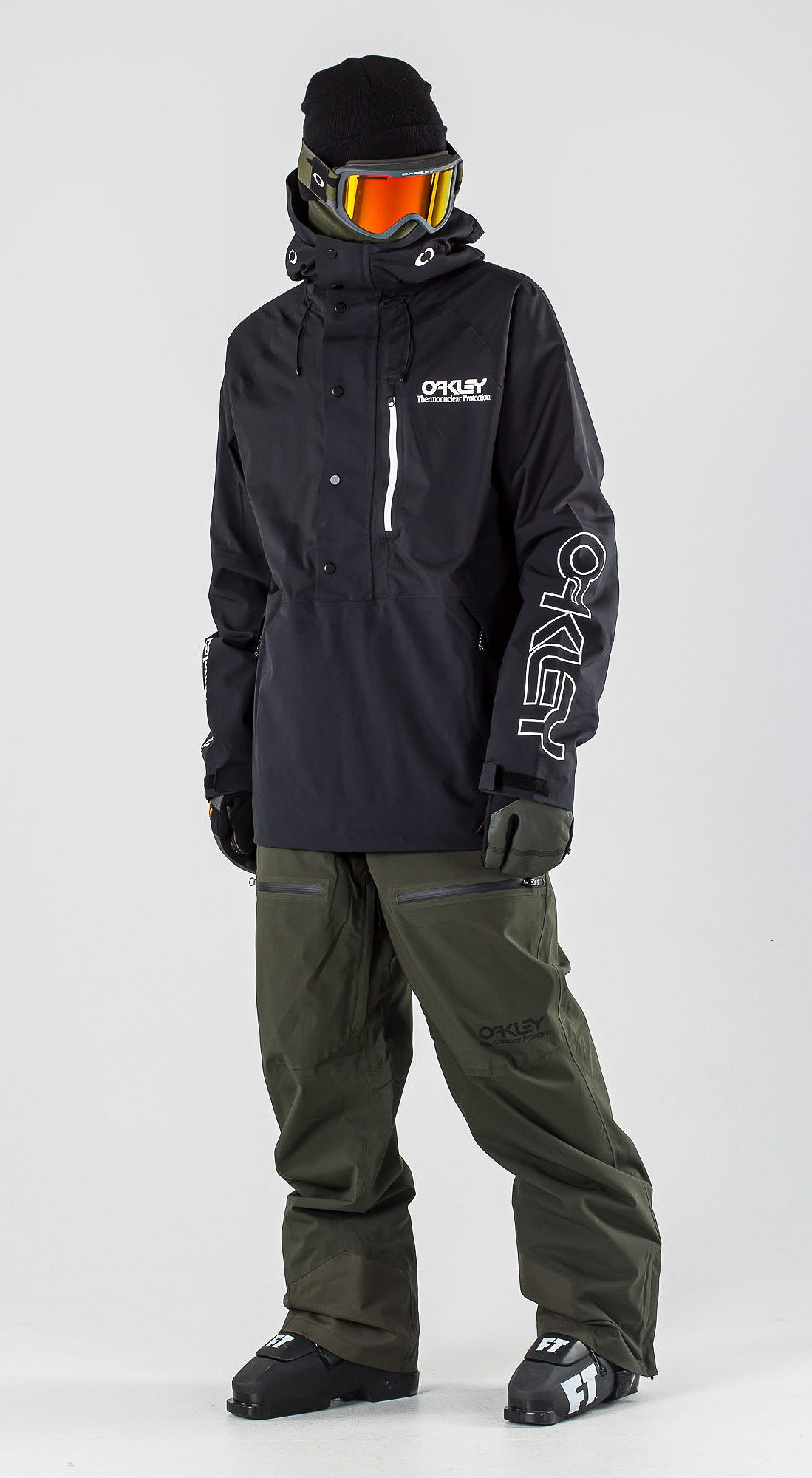 Oakley Lined Shell Anorak Blackout